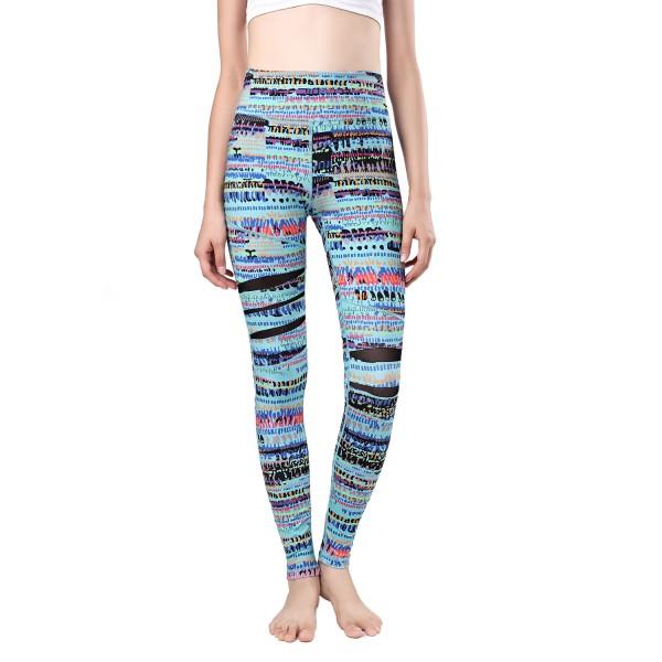 Newlashua High Waisted Printed Compression Yoga Pants Women Workout Pants Mesh Yoga Leggings